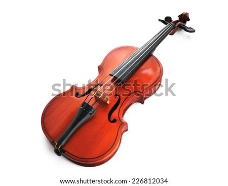 violin isolated - stock photo