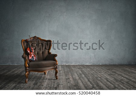 Violin on a chair indoors