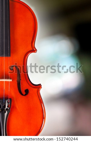Violin on the beautiful background.
