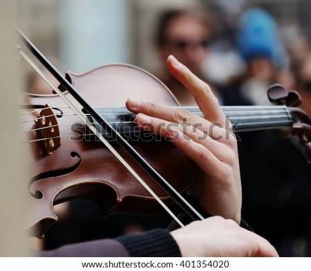 Violin player  - stock photo