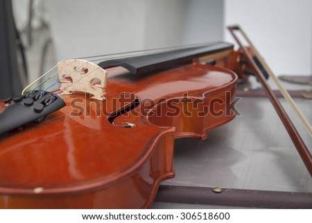 Violin. - (Selective Focus) - stock photo