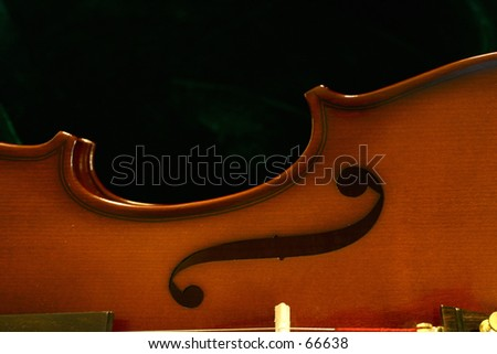 Violin Sound Hole - stock photo