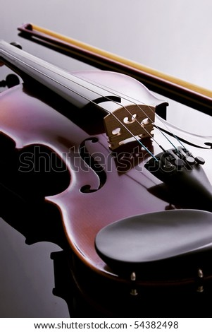 Violin. studio photo. - stock photo