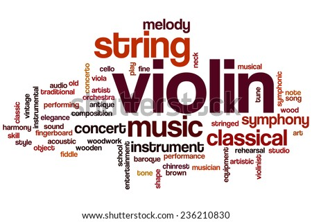 Violin word cloud concept - stock photo