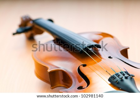 Violing in music concept - stock photo