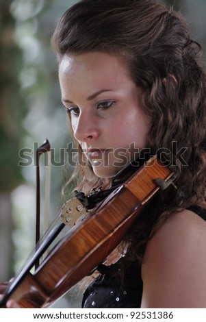 Violinist (2) Young woman playing violin