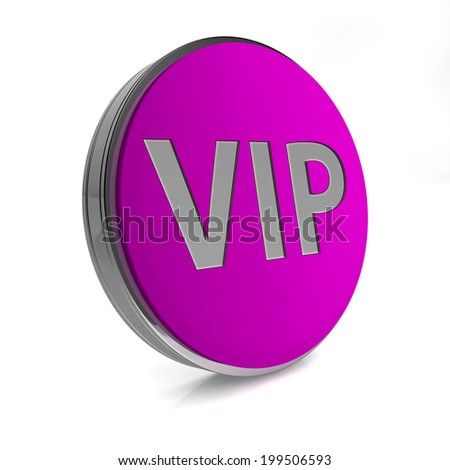 Vip circular icon on white background