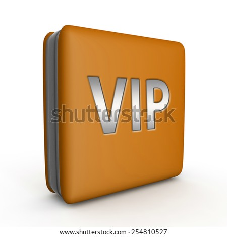 Vip square icon on white background