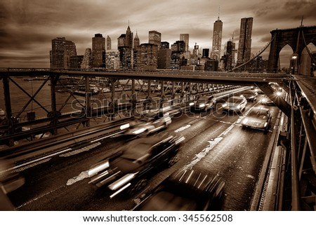 Virage abstract of new york - stock photo