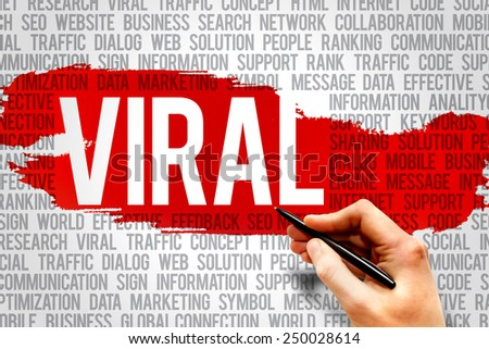 VIRAL word cloud, business concept - stock photo