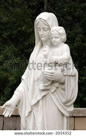Virgin Mary and Child - stock photo