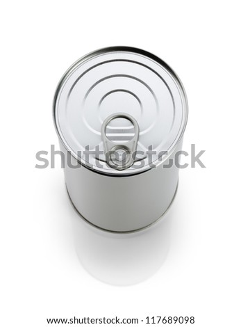 Virgin tin on white background - stock photo