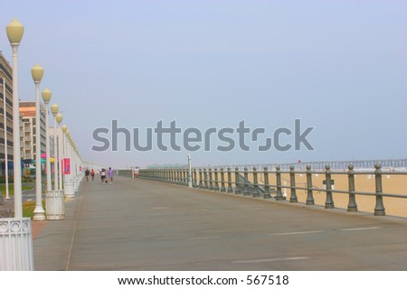 Virginia Beach Boardwalk - stock photo