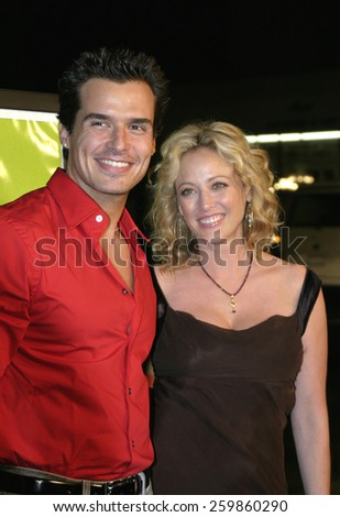 """Virginia Madsen and Antonio Sabato Jr. at the """"Sideways"""" Los Angeles Premiere held at the Academy of Motion Pictures Arts and Sciences in Beverly Hills, California United States on October 12 2004. - stock photo"""