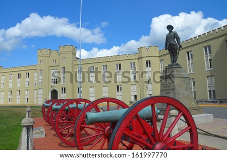 Virginia Military Institute in Lexington Virginia - stock photo