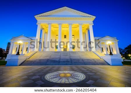 Virginia State Capitol in Richmond, Virginia, USA. - stock photo