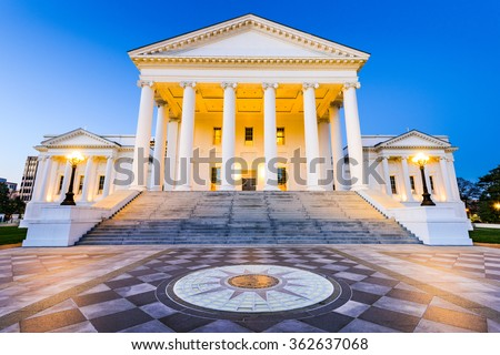 Virginia State Capitol in Richmond, Virginia, USA. - stock photo