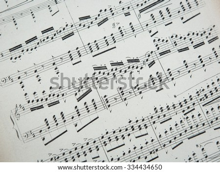 VIRGINIA, USA - MARCH 1, 2013: Musical score for piano by Franz Liszt. - stock photo