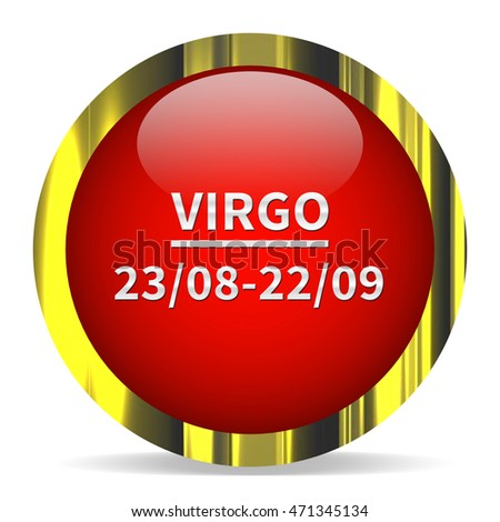 Virgo icon. Internet button.3d illustration.