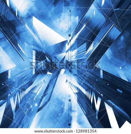 virtual abstract background - stock photo