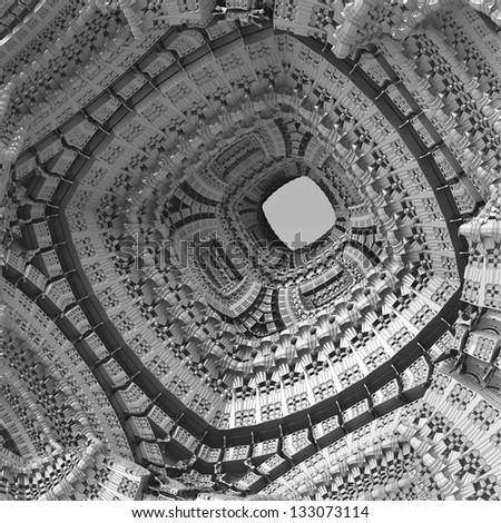virtual black and white background - stock photo