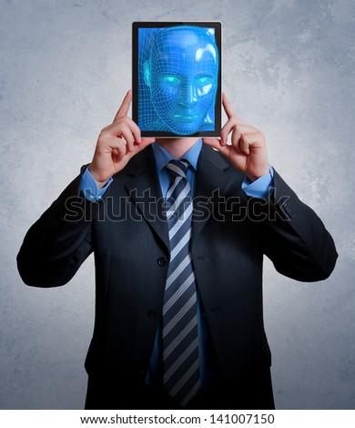 VIrtual Businessman - stock photo