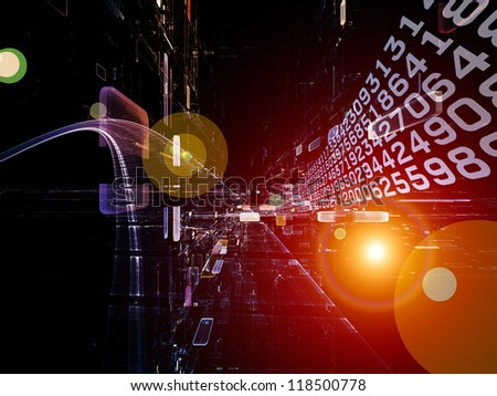 Virtual of Information Stream - stock photo