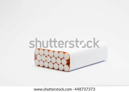 Virtual pack of cigarettes isolated on white background