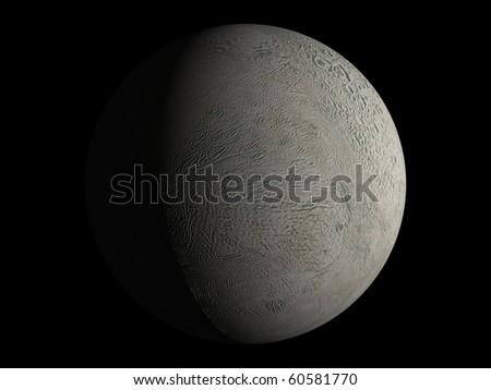 Virtual Planets Enceladus Moon 03 - stock photo