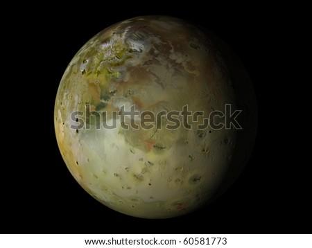 Virtual Planets Io Moon 02 - stock photo
