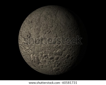 Virtual Planets Mimas Moon 02 - stock photo