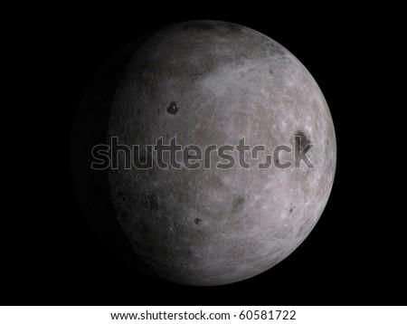 Virtual Planets Moon Moon 01 - stock photo
