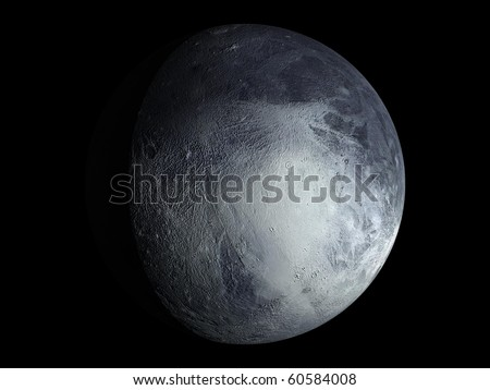 Virtual Planets Pluto Planet 01 - stock photo