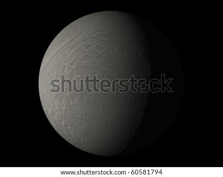 Virtual Planets Tethys Moon 04 - stock photo
