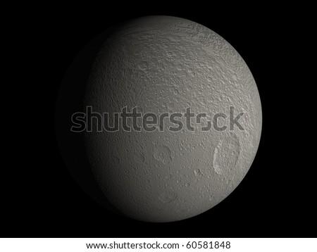 Virtual Planets Tethys Moon 01 - stock photo