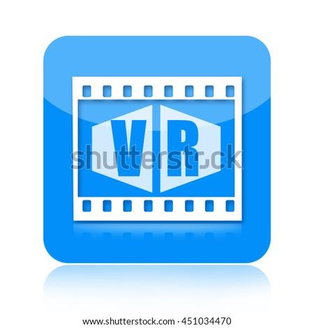 Virtual reality icon - stock photo