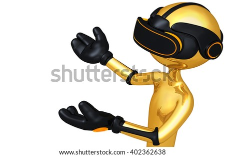 Virtual Reality VR Goggles Glasses Headset Device Concept 3D Illustration  - stock photo
