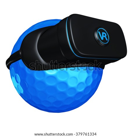 Virtual Reality VR Golf Goggles Glasses Headset Device - stock photo