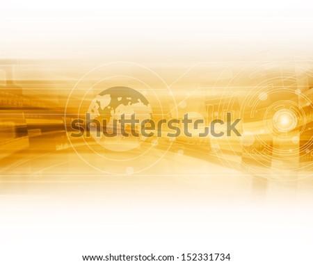 Virtual Screen Background - stock photo