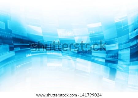 Virtual Screen Background,Pixels Flow - stock photo