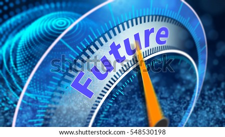 Virtual vision of the future outlook concept background design 3D Illustration