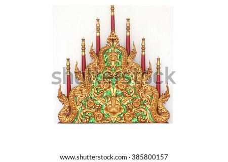 Virtuous ancestors is of great importance as a candle seven copies in a grand ceremony in religious ceremonies of wood patterns Thailand a beautiful cabinet so it is very rare.