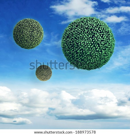 Virus - 3d rendered illustration - stock photo