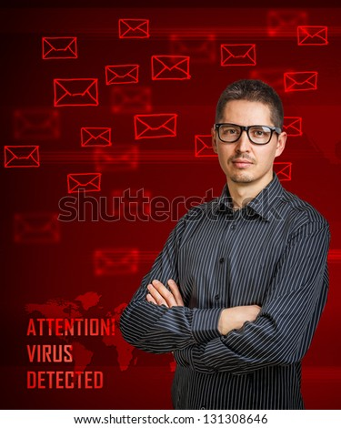 Virus detected message on digital interface