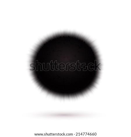 Virus icon isolated on white background - stock photo