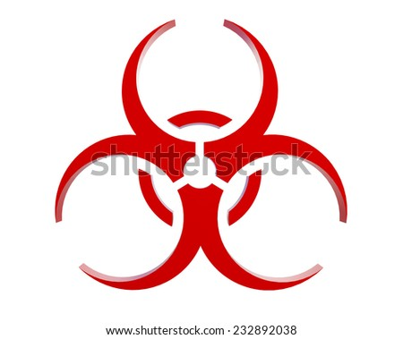 virus logo on a white background  - stock photo