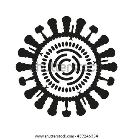 Virus or bacteria icon. Influenza symbol.  - stock photo