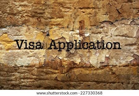 VIsa application - stock photo