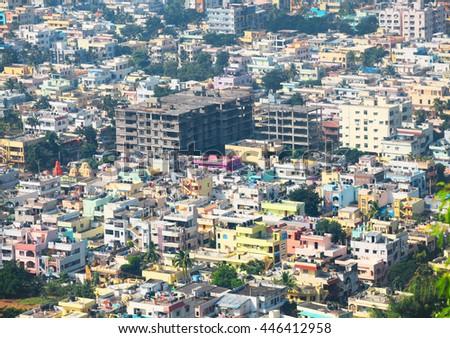 Visakhapatnam, INDIA - December 9 : Visakhapatnam city is the financial capital of Andhra Pradesh state in India. On December 9,2015 Visakhapatnam, India - stock photo