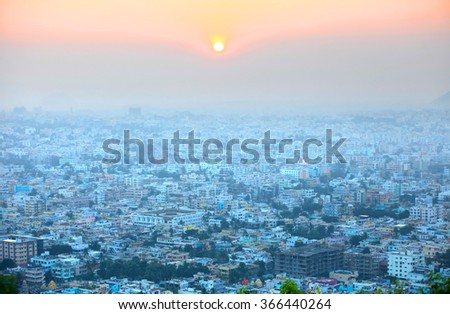 Visakhapatnam, INDIA - December 9 : Visakhapatnam is a largest city in newly bifurcated Andhra Pradesh state in India, On December 9,2015 Visakhapatnam, India - stock photo